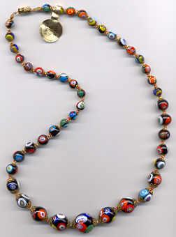 9f3655378a8c Millefiori Venetian Beads