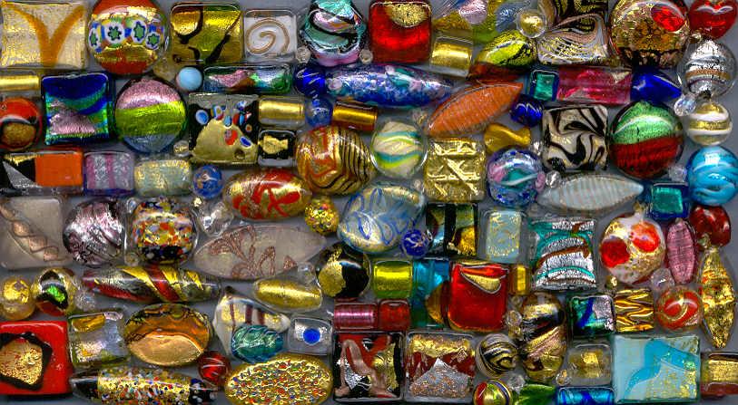 Avventurine Beads Handmade in Venice Italian Jewelry Authentic Murano Glass Loose Beads 50 pcs 8mm Lampwork Beads
